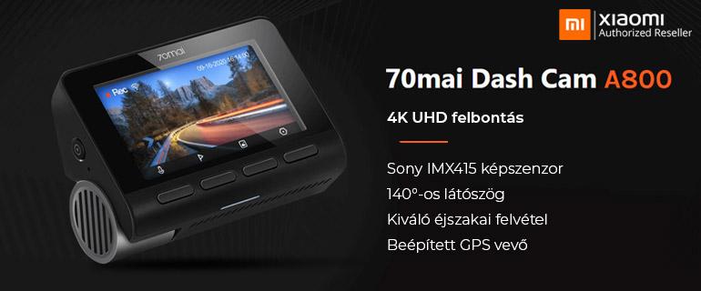 Xiaomi 70mai Dash Cam A800 4K menetrögzítő kamera