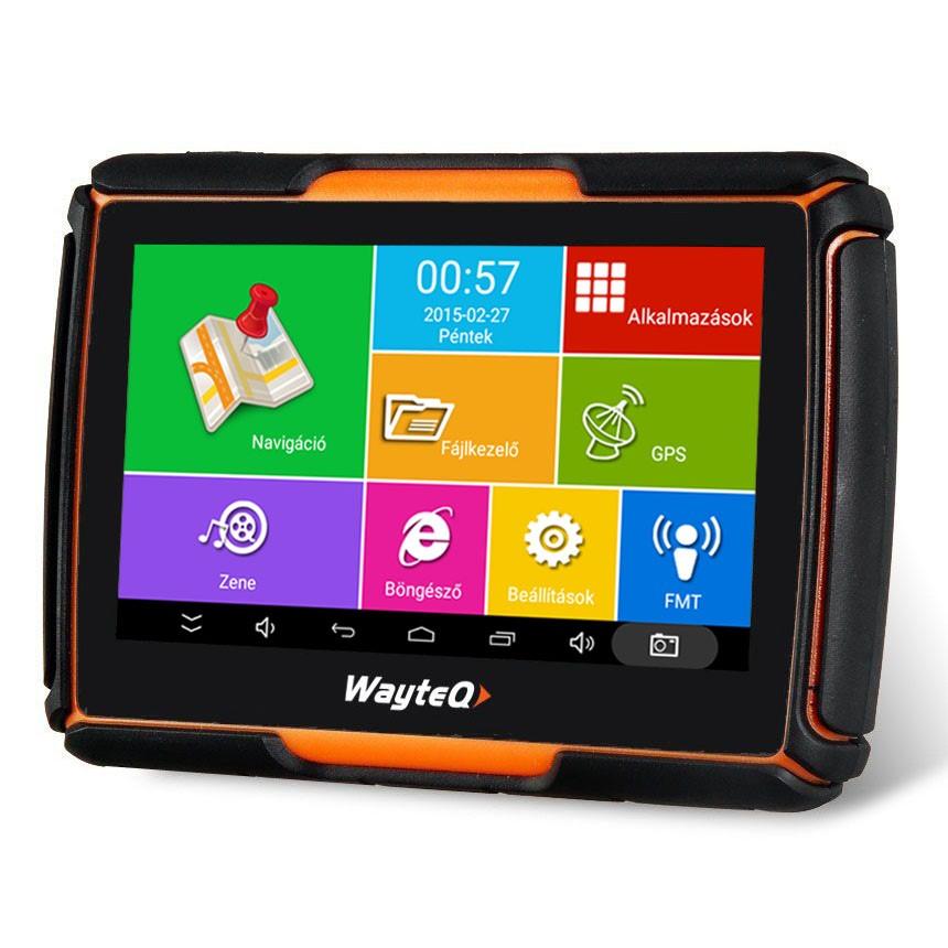 WayteQ xRIDER Smart motoros navigáció