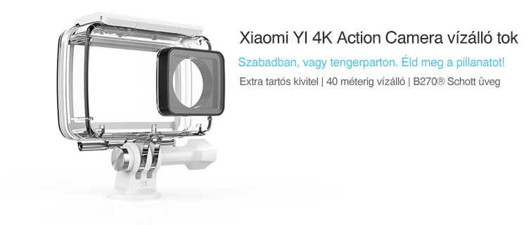 xiaomi yi 4k action cam waterproof case