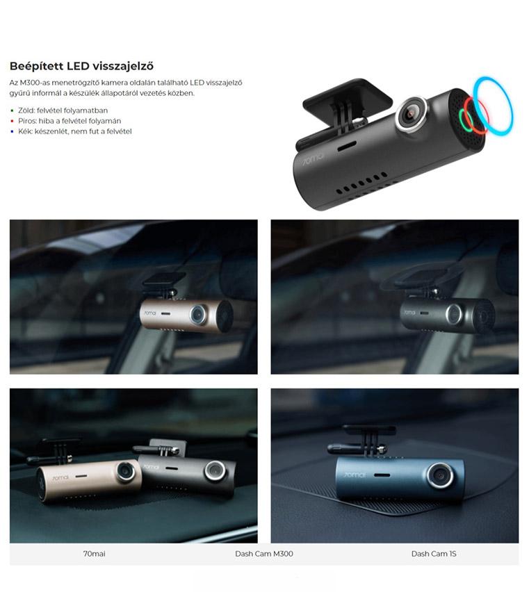 Xiaomi 70mai Dash Cam M300 menetrögzítő kamera