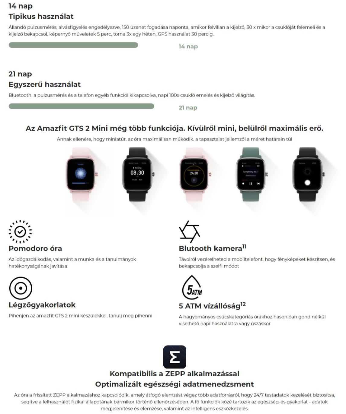 Xiaomi Amazfit GTS 2 Mini okosóra
