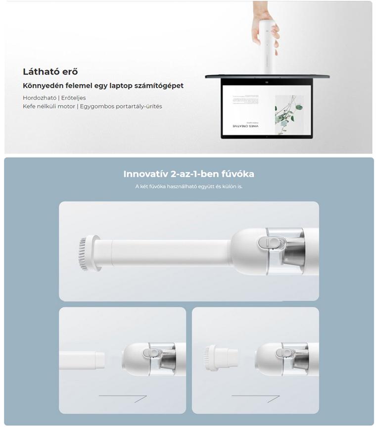 Xiaomi Mi Vacuum Cleaner Mini hordozható kézi porszívó