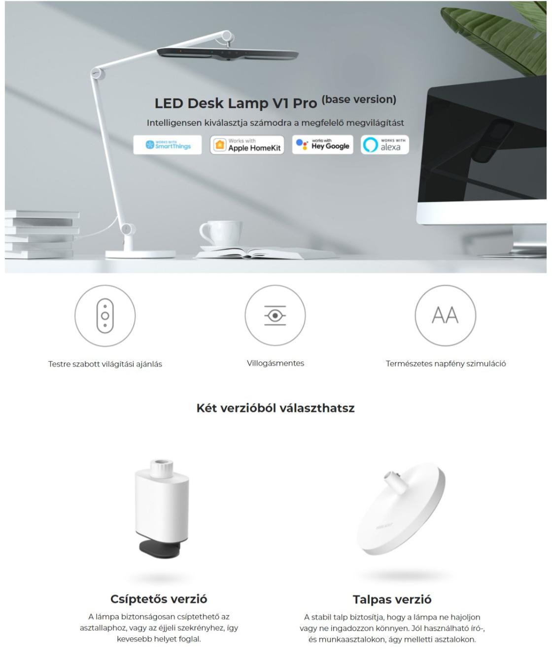 Xiaomi Yeelight LED Desk Lamp V1 Pro (base version) asztali lámpa
