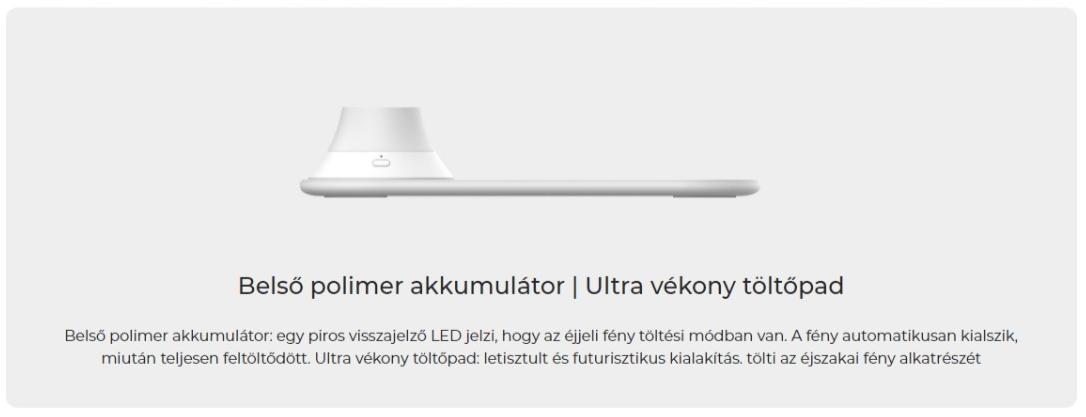 xiaomi yeelight wireless charging night light indukcios toltos ejszakai feny 1