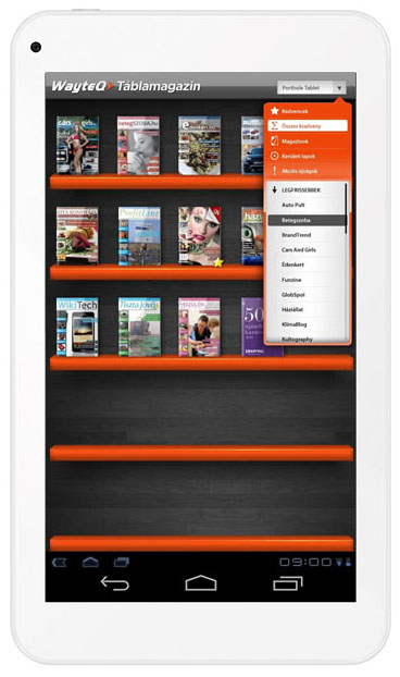 xtab-7q WayteQ táblamagazin