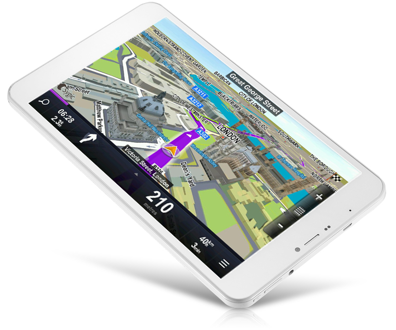 wayteq xtab 8x quad tablet pc with sygic 3d 0