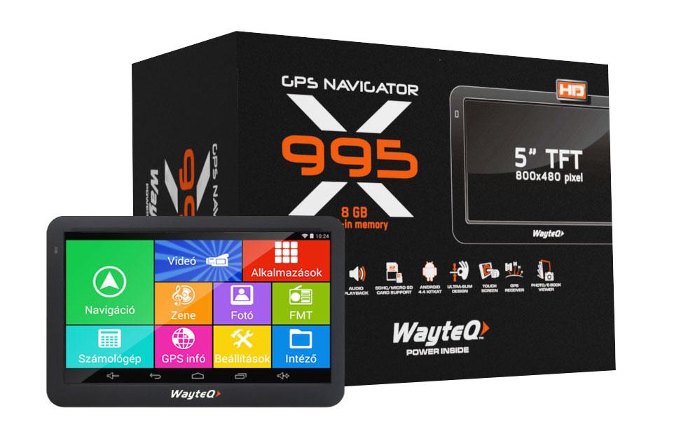 WayteQ x995 GPS navigáció