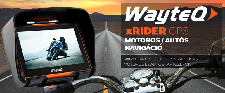 WayteQ xRIDER motoros navigáció