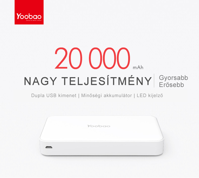 yoobao master power bank m20